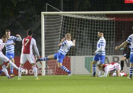 Jong Ajax na valse start langs Graafschap