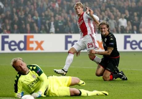 Ajax fier aan kop in Europa League