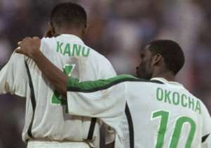 Nwankwo Kanu & Jay-Jay Okocha of Nigeria