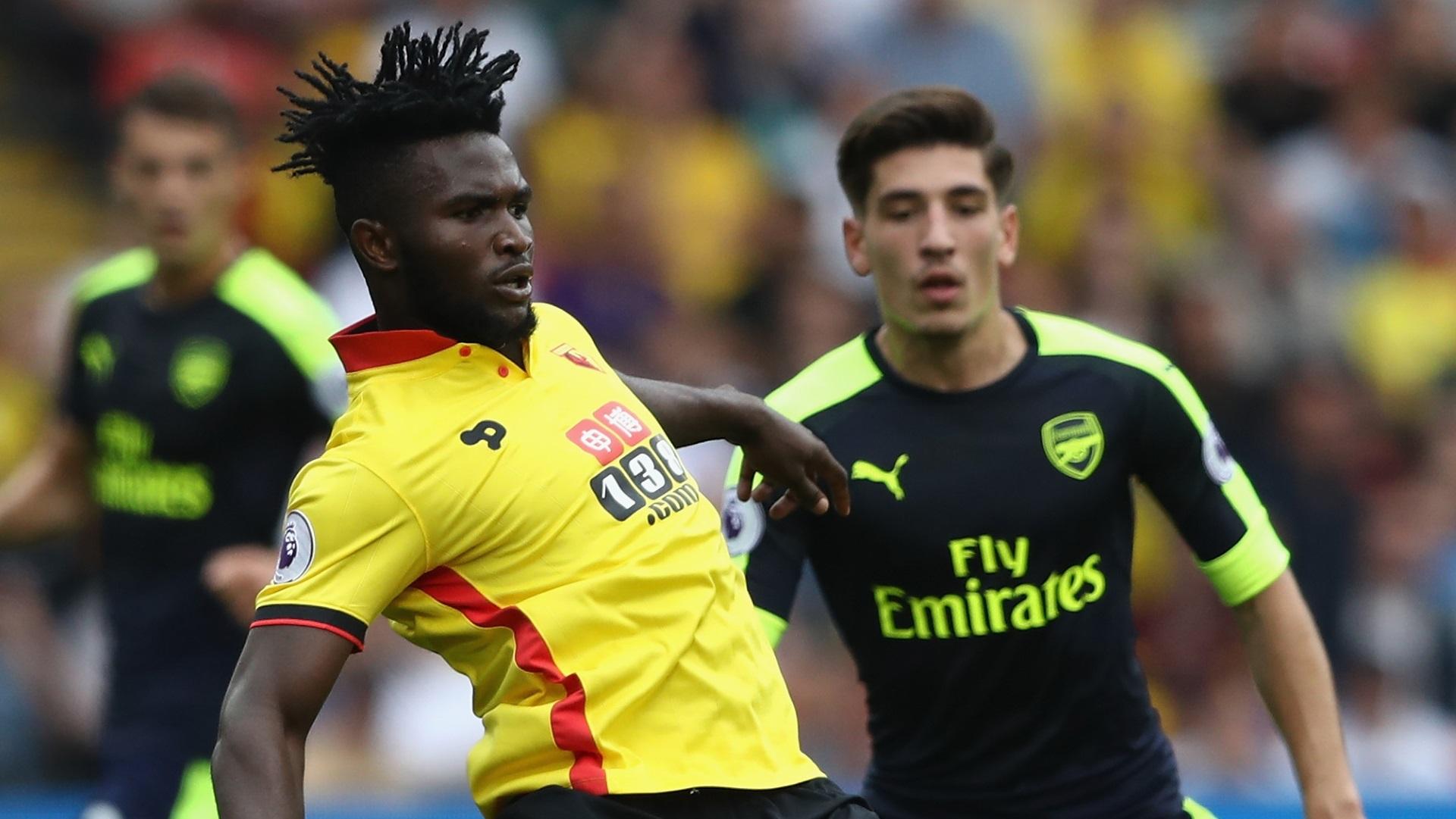 Isaac Success of Watford & Hector Bellerin of Arsenal