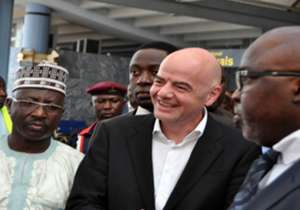 Infantino Arrives Nigeria