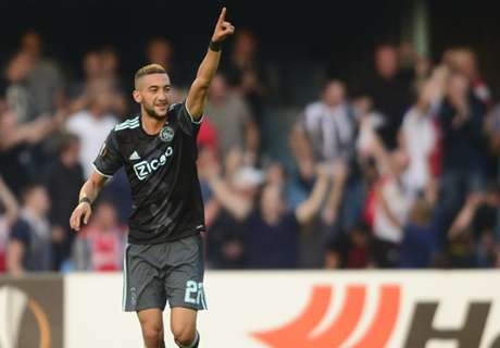 Ziyech nets brace in Ajax win