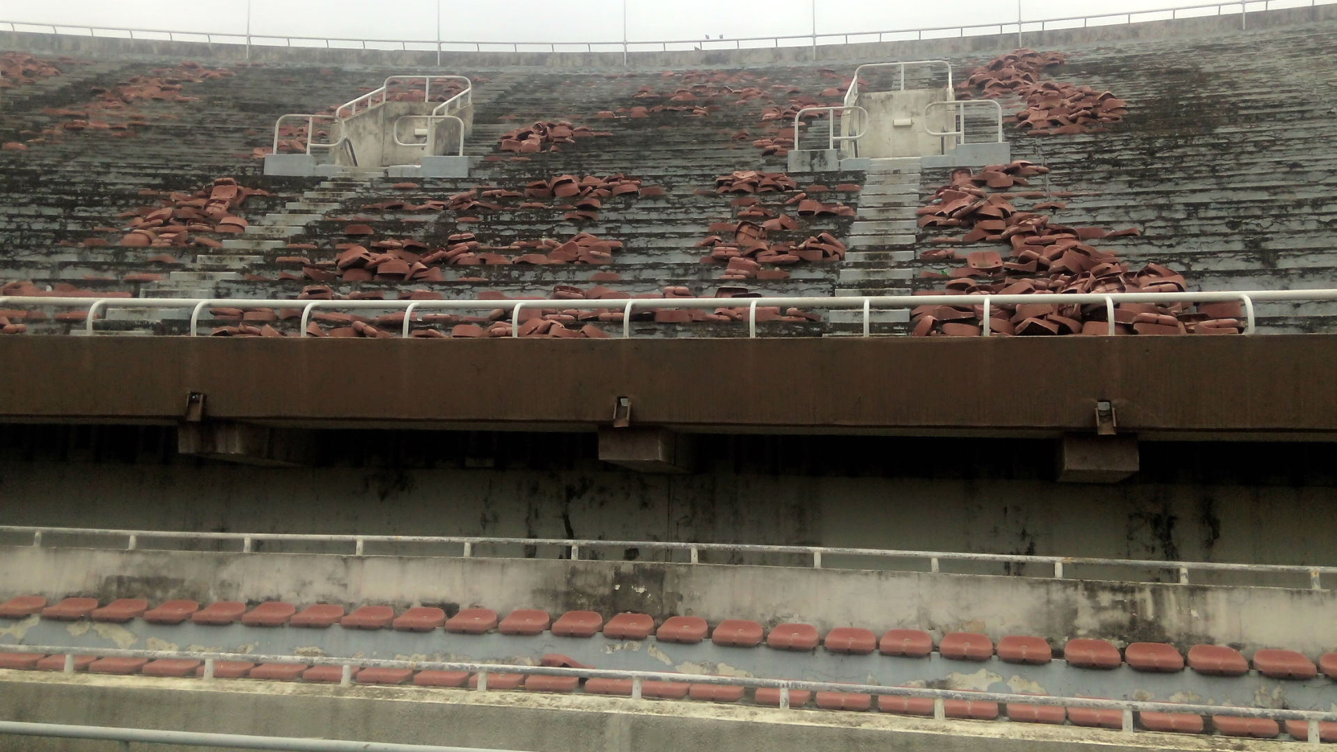 Image result for dilapidated surulere stadium