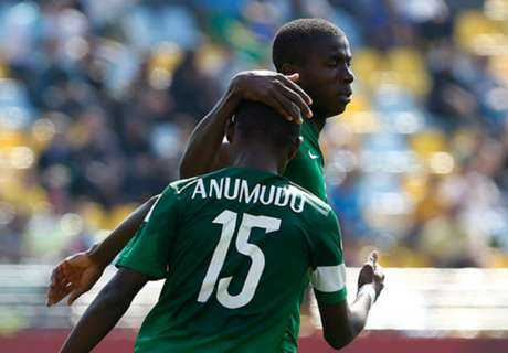 In Pics: Osimhen the hero in Eaglets's win