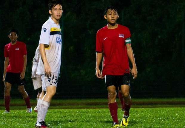 Zulfadhmi Suzliman (right) captained the NFA U18s to victory over Woodlands.