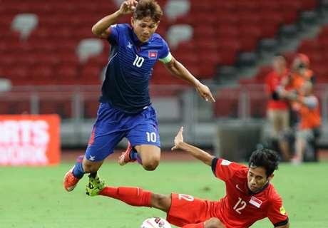 Sepuluh Pemain Kamboja Bekuk Singapura