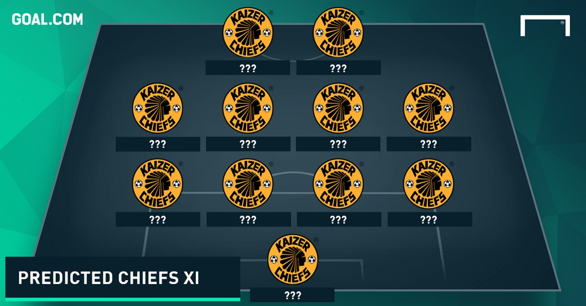 predicted kaizer chiefs mystery   goal