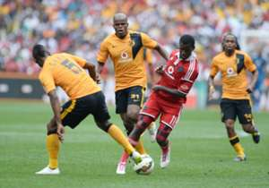 The score was 0-0 at the interval following a relatively quiet first half. Chiefs came very close to scoring when Siphiwe Tshabalala's attempt from distance was kept out by the woodwork in the 56th minute. Eight minutes later, Pirates winger Sifiso Mye...