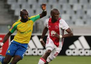 Mark Mayambela in action for Ajax Cape Town (right)