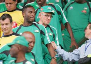 Dumitru left Chiefs for South Africa's senior national team, Bafana Bafana in 2005. However, the Dumitru-coached Bafana side failed to qualify for the knockout stages at the 2006 Afcon finals.