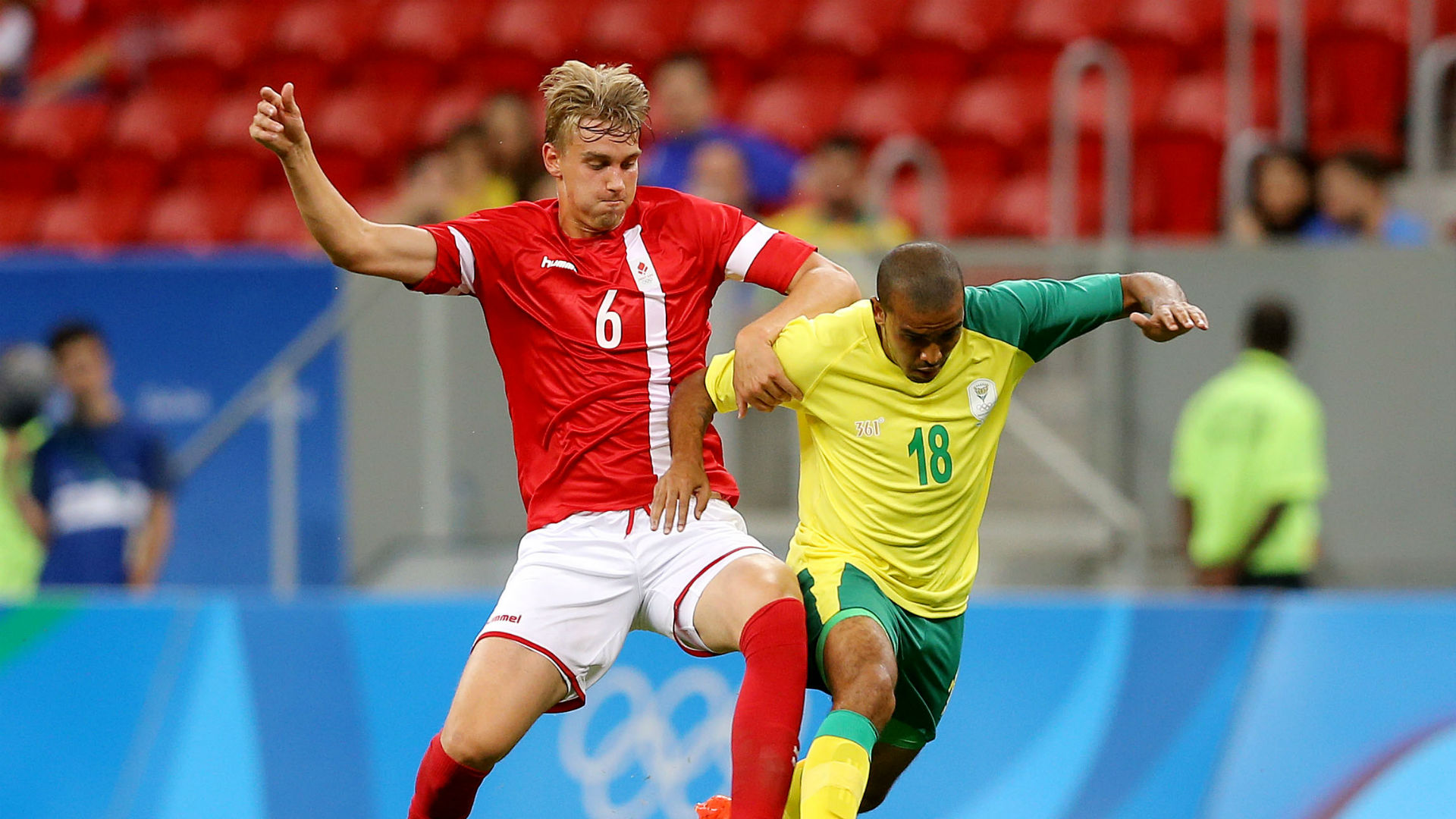 Denmark gets by South Africa 1-0