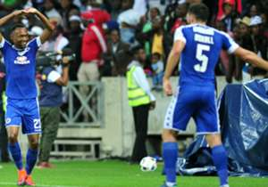 Thabo Mnyamane and Michael Boxall - SuperSport United