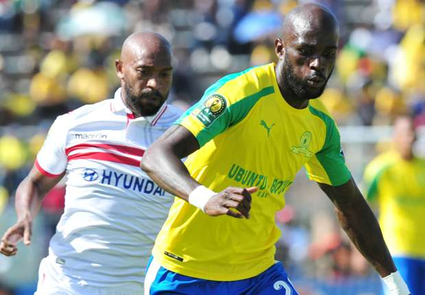 Anthony Laffor in action for Sundowns against Zamalek