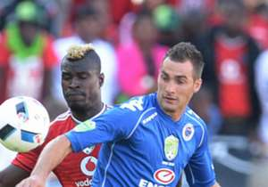 SuperSport were leading 3-1 at half-time thanks to goals from Bradley Grobler, Jeremy Brockie and Michael Boxall, while Luvuyo Memela netted for Bucs.