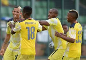 Jomo Cosmos players celebrating