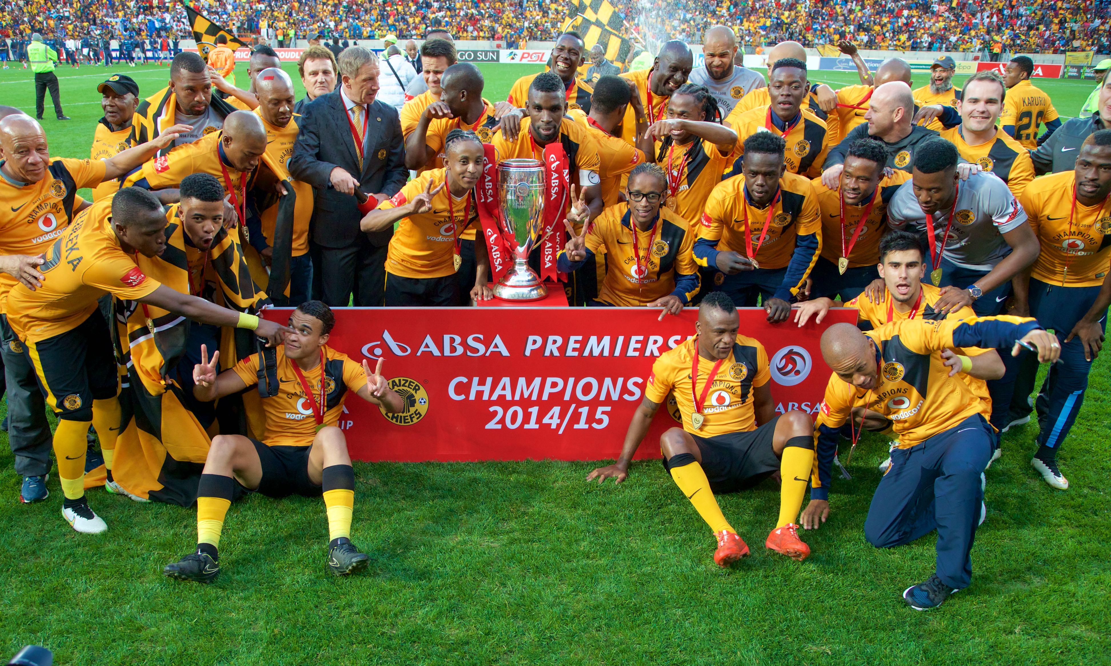 Kaizer Chiefs: Kaizer Chiefs Players Celebrate