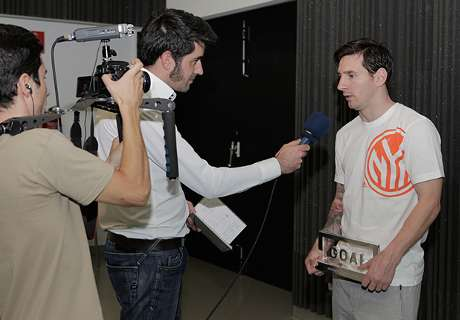 Messi agradece o Goal 50