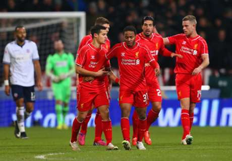 C. Inglaterra: Bolton 1 x 2 Liverpool