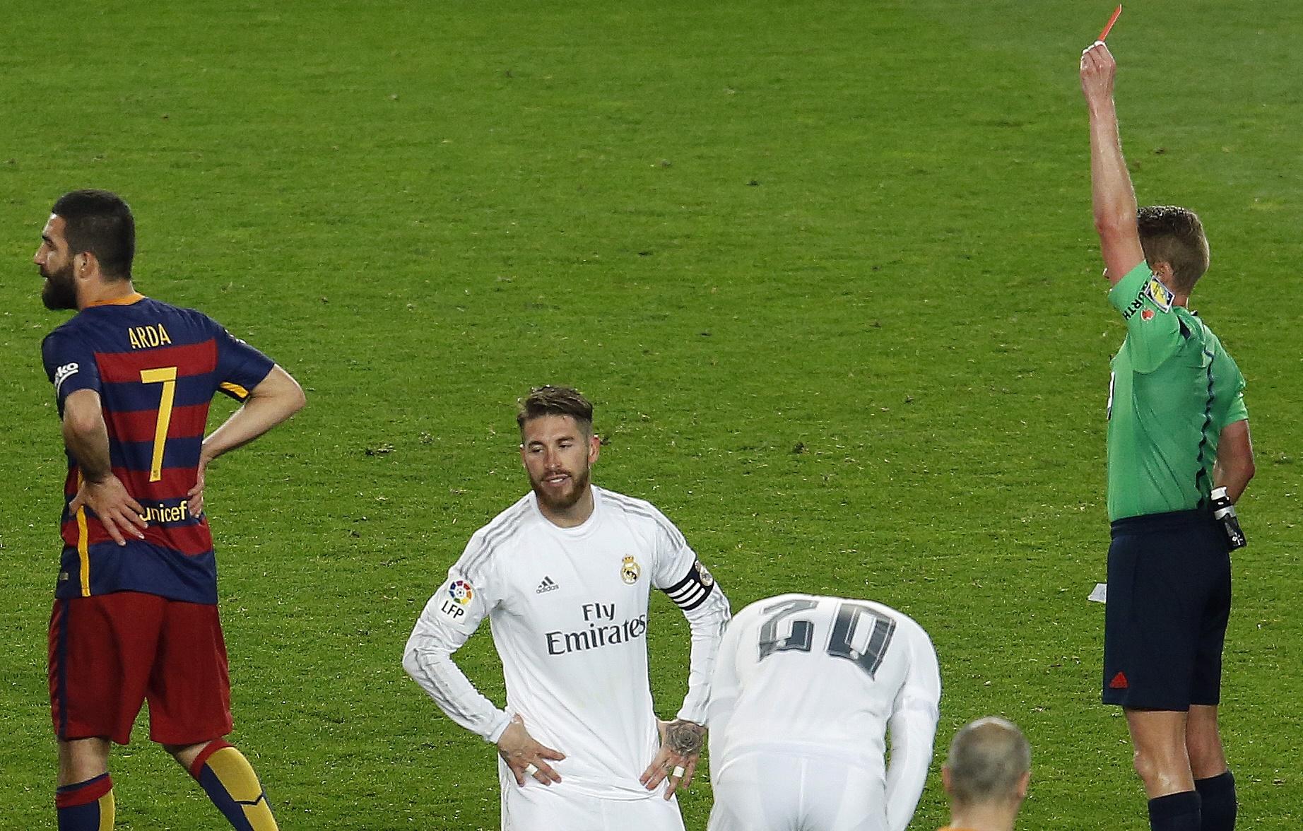 Sergio Ramos got red card against Barca
