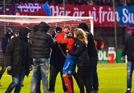 Zoon Larsson aangevallen door hooligans