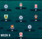PL Team of the Week 2016-2017 สัปดาห์ที่ 9