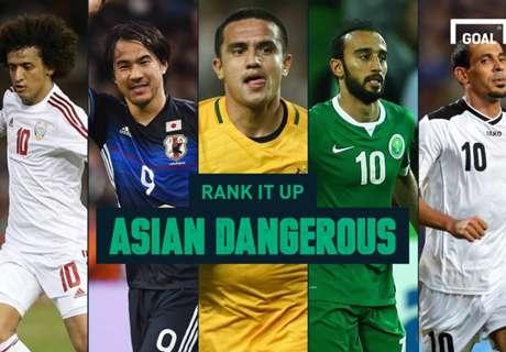 Rank it Up : จับตาย! 10 แข้งอันตรายที่ช้างศึกต้องระวัง คัดบอลโลก 12 ทีมเอเชีย