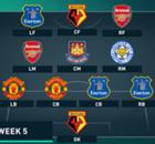 EPL Team Of The Week 2015-2016 สัปดาห์ที่ 5