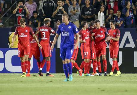 PSG routs Leicester City