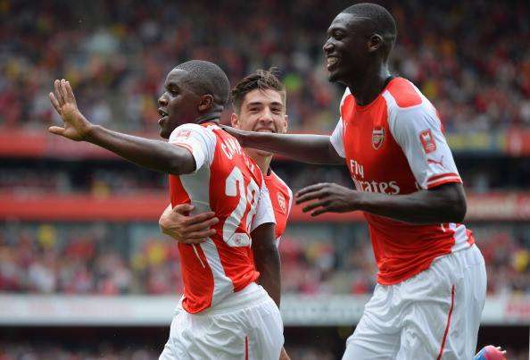Arsenal 5-1 Benfica: Sanogo hits four in Gunners romp