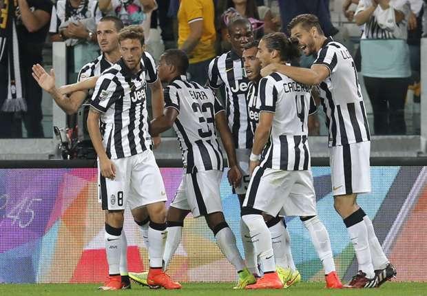 Juventus obtuvo su segundo triunfo en la Serie A con goles de Tevez y Marchisio.