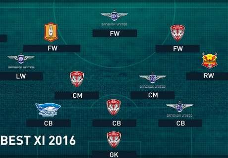 TOYOTA THAI LEAGUE BEST XI : ทีมยอดเยี่ยมฤดูกาล 2016