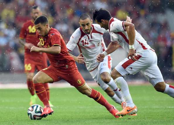 Belgium 1-0 Tunisia: Mertens strike settles stormy encounter in Brussels