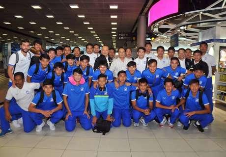 ส.บอลต้อนรับช้างศึก U19 ถึงไทย สมยศย้ำนำบทเรียนพัฒนาสู่ระดับเอเชีย