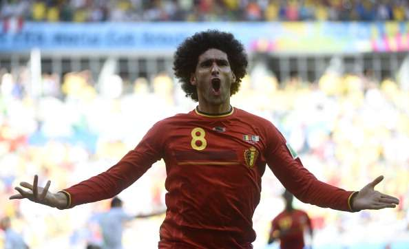 Belgium show Manchester United how to use Fellaini