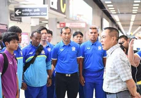 ช้างศึก U16 เดินทางถึงไทย สมยศยันพร้อมให้โอกาสเด็กเสมอ