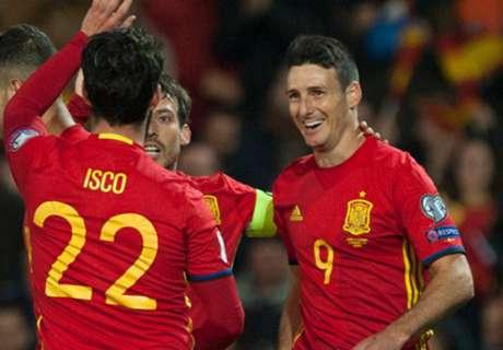 อาดูริซจารึกผู้ทำประตูอายุมากสุดทีมชาติสเปน