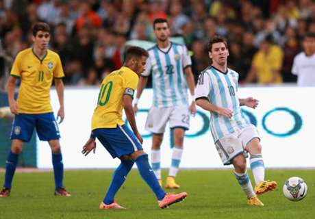 Brazil press look ahead to Messi clash