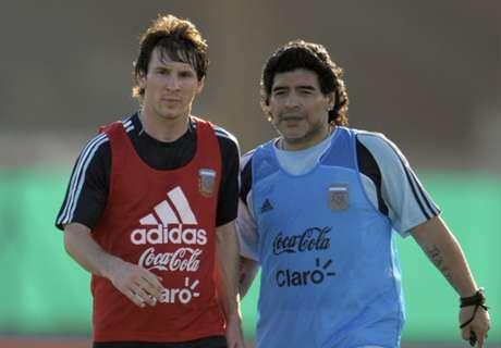 Zanetti Tak Bandingkan Maradona & Messi