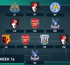 EPL Team Of The Week 2015-2016 สัปดาห์ที่ 16