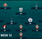 PL Team of the Week 2016-2017 สัปดาห์ที่ 12