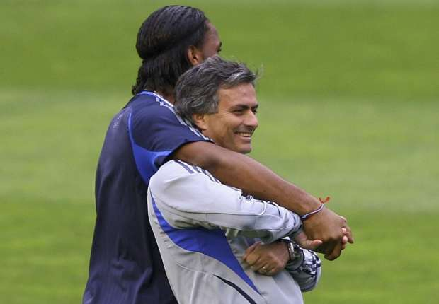 José Mourinho y Didier Drogba en el Chelsea