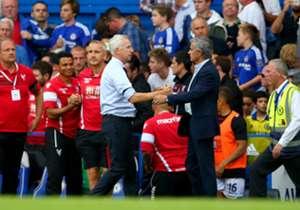 Alan Pardew & Jose Mourinho