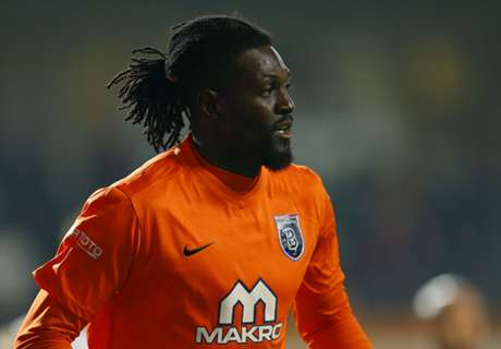 Adebayor on target again