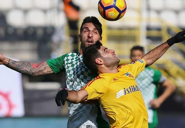 Akhisar Belediyespor 0 Kayserispor 0 Maç özeti 21 Ocak