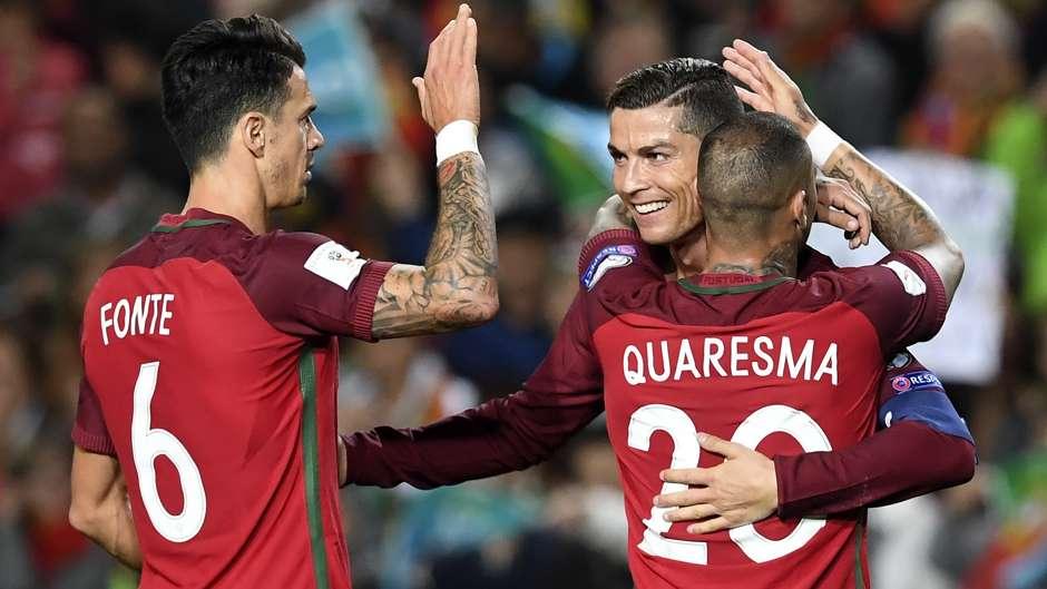 Cristiano Ronaldo Ricardo Quaresma Portugal WCQ 11142016