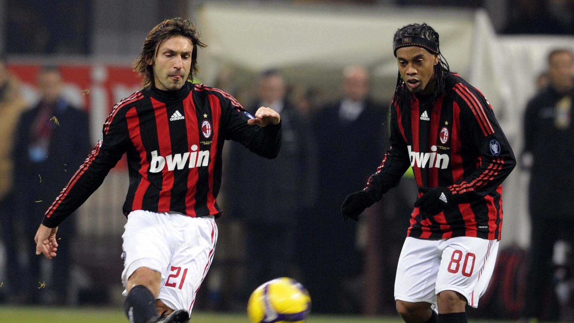 Andrea Pirlo Ronaldinho Milan Serie A 12212008