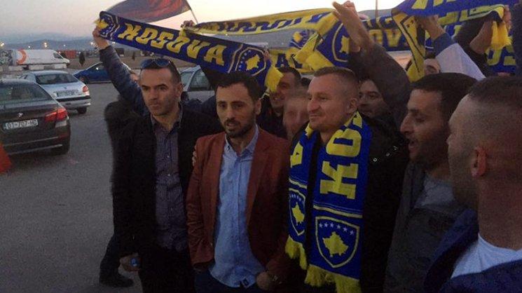 Besart Berisha has landed in Pristina ahead of his international debut for Kosovo. 📷 Kosovan Football.