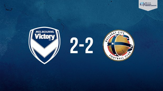 Melbourne Victory drew with Ballarat City in the PlayStation 4 NPL2 West.