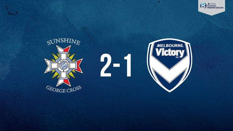 Melbourne Victory was edged by Sunshine George Cross in the PlayStation 4 NPL2 West.