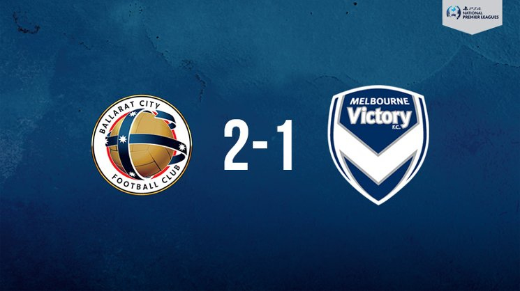 Melbourne Victory was edged by Ballarat City in the PlayStation 4 NPL2 West.